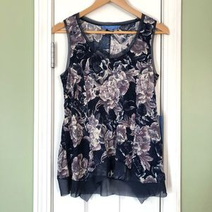 Simply Vera Wang Floral High Low Tank